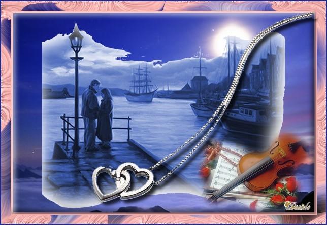 Amoureux sur le port